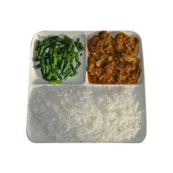 Witte rijst met Varkensfilet
