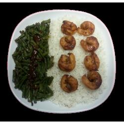 Witte rijst Garnalen