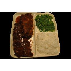 Witte rijst spareribs